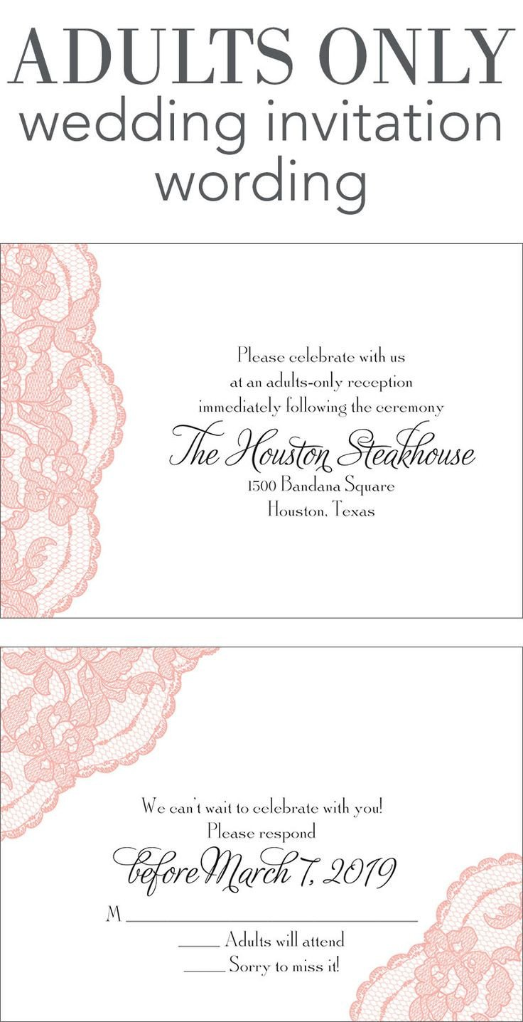 Wedding Invite Wording Template Adults Ly Wedding Invitation Wording