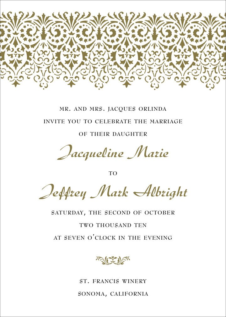 Wedding Invite Wording Template formal Wedding Invitation Wording