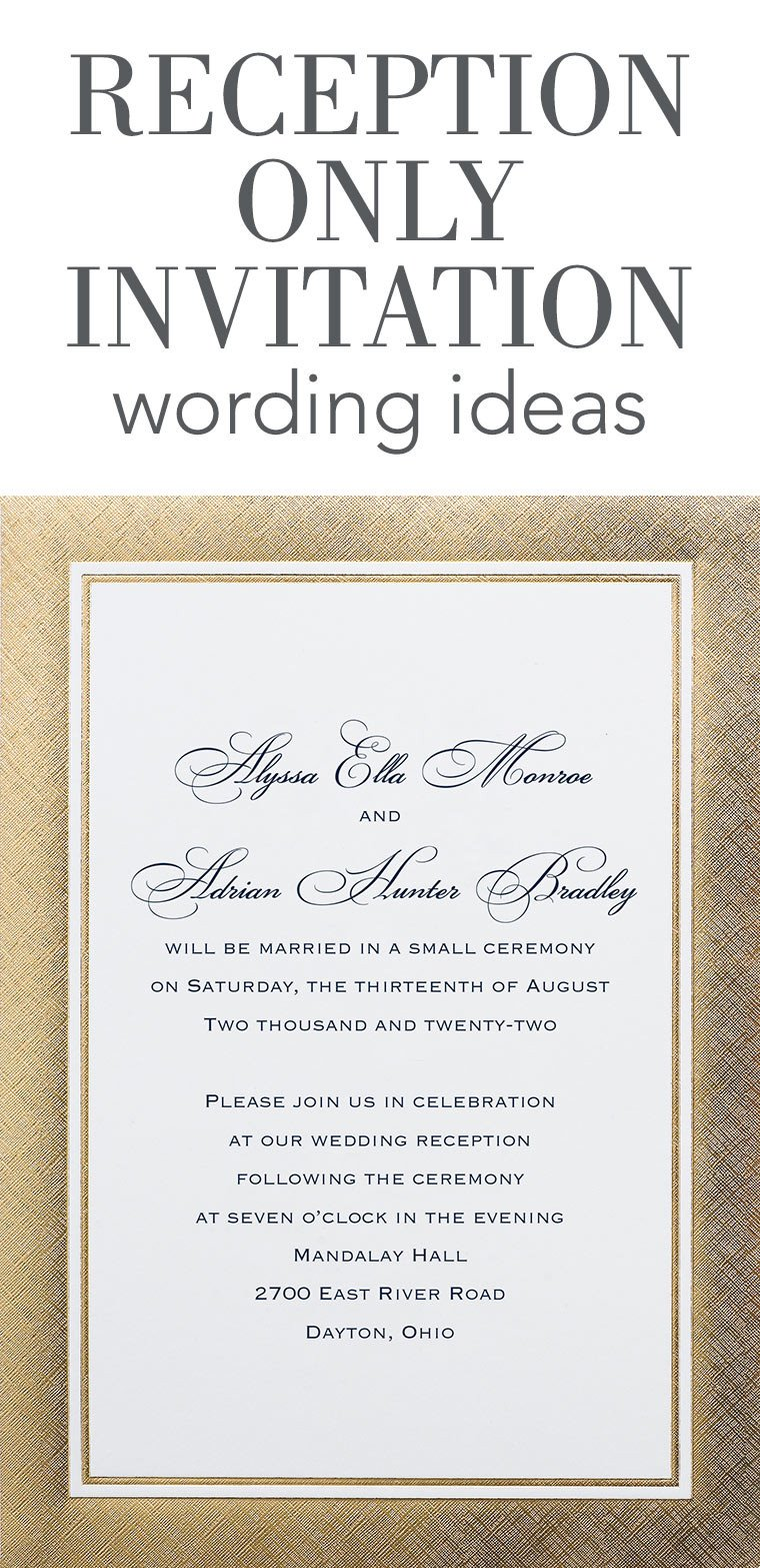 Wedding Invite Wording Template Reception Ly Invitation Wording