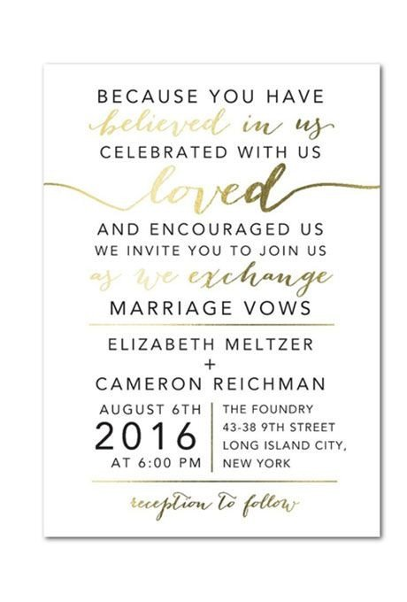 Wedding Invite Wording Template Typography Wedding Invitations
