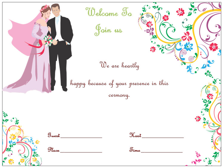 Wedding Invite Wording Template Wedding Invitation Template S Simple and Elegant