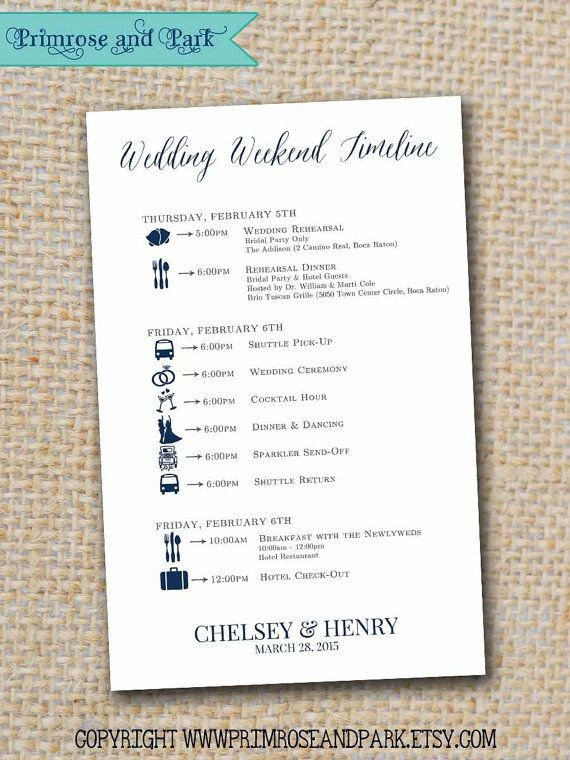 Wedding Itinerary for Guests 25 Best Ideas About Wedding Weekend Itinerary On