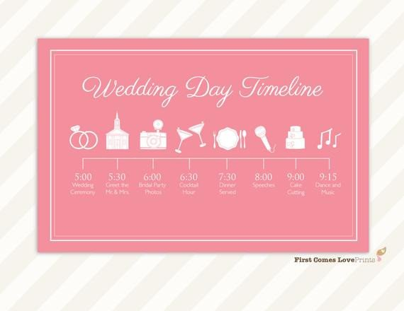 Wedding Itinerary for Guests Wedding Day Schedule Of events Itinerary for Guests Big