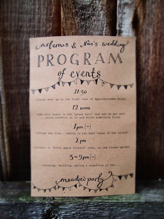 Wedding Itinerary for Guests Wedding Stationery Inspiration Day Of Itineraries