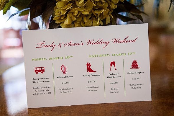 Wedding Itinerary for Guests Wedology by Dejanae events Wedding Weekend Fun