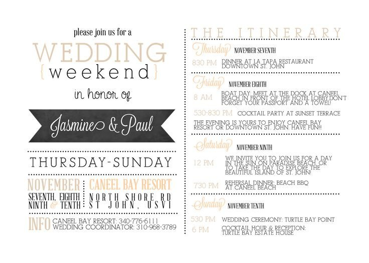 Wedding Itinerary Templates Free Best 25 Wedding Weekend Itinerary Ideas On Pinterest