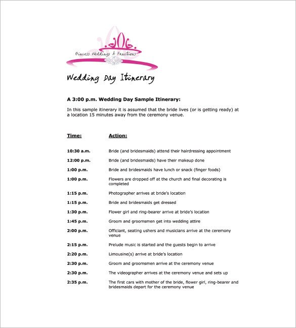 Wedding Meeting Agenda Template 9 Wedding Agenda Templates Free Sample Example format