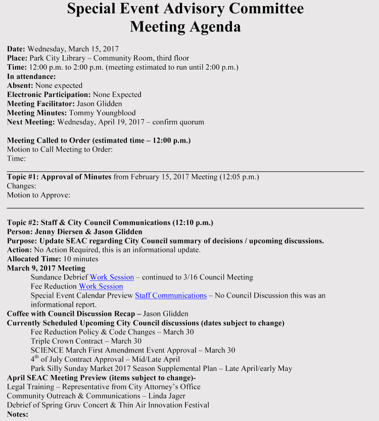 Wedding Meeting Agenda Template How to Prepare An Agenda for event Planning with Free