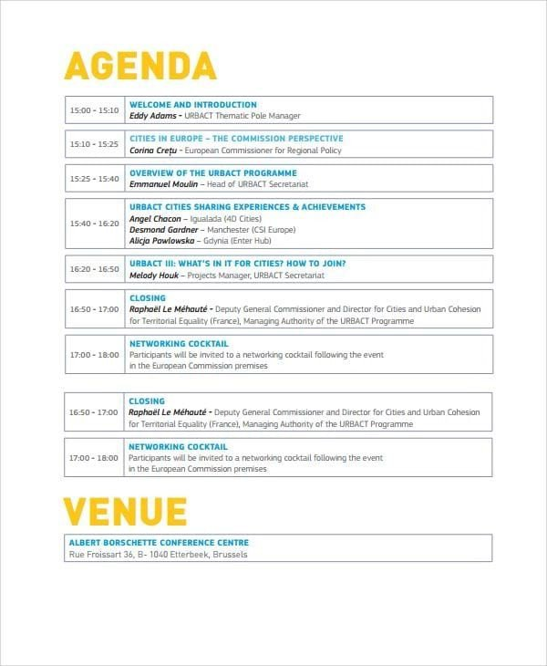 Wedding Meeting Agenda Template top 5 Best event Agenda Templates