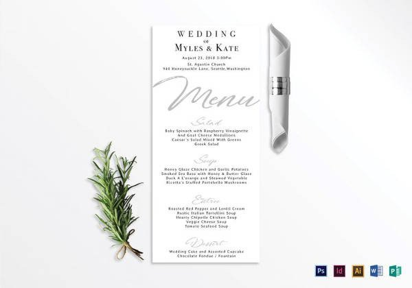 Wedding Menu Card Templates 150 Menu Template Download Free Document In Psd Pdf Word