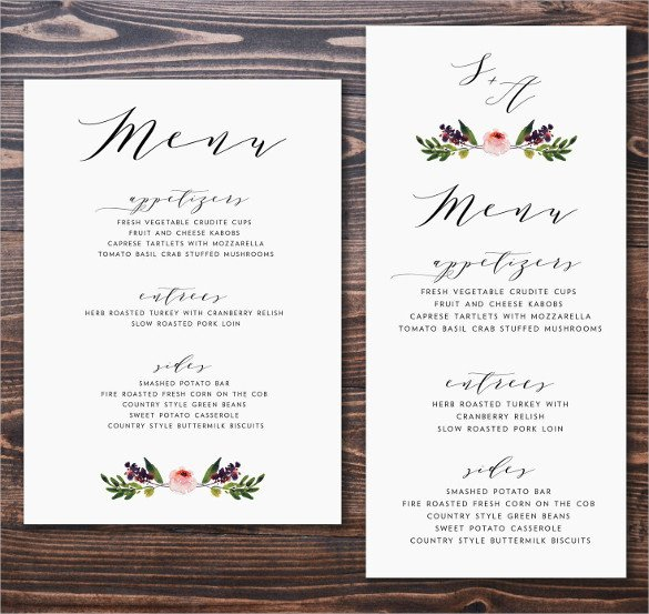 Wedding Menu Card Templates 47 Menu Card Templates Ai Psd Docs Pages