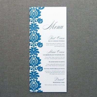 Wedding Menu Card Templates Menu Card Template – Rococo Design – Download & Print