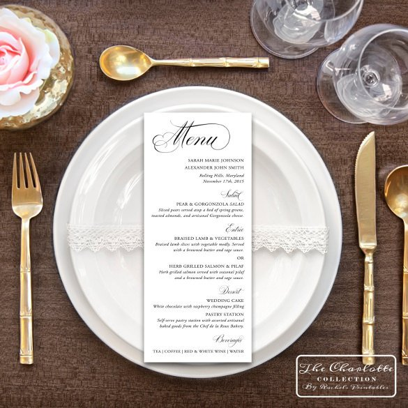 Wedding Menu Card Templates Menu Card Templates 58 Free Word Psd Pdf Eps