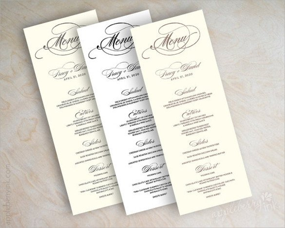 Wedding Menu Card Templates Sample Menu Card 42 Download In Psd Pdf Word