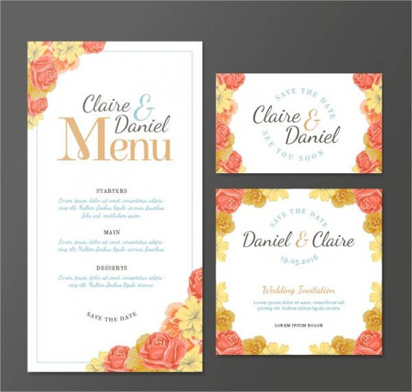 Wedding Menu Card Templates Wedding Menu Card Template Driverlayer Search Engine