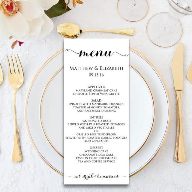 Wedding Menu Card Templates Wedding Menu Wedding Menu Template Menu Cards Menu