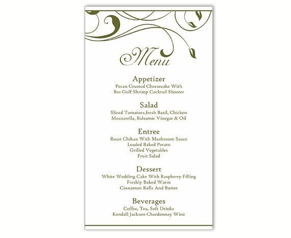 Wedding Menu Template Free Best 25 Menu Template Word Ideas On Pinterest