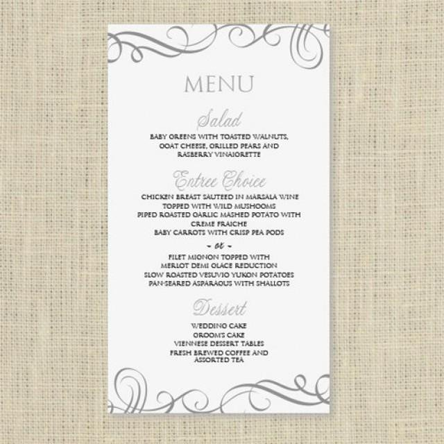 Wedding Menu Template Free Wedding Menu Card Template Download Instantly Edit
