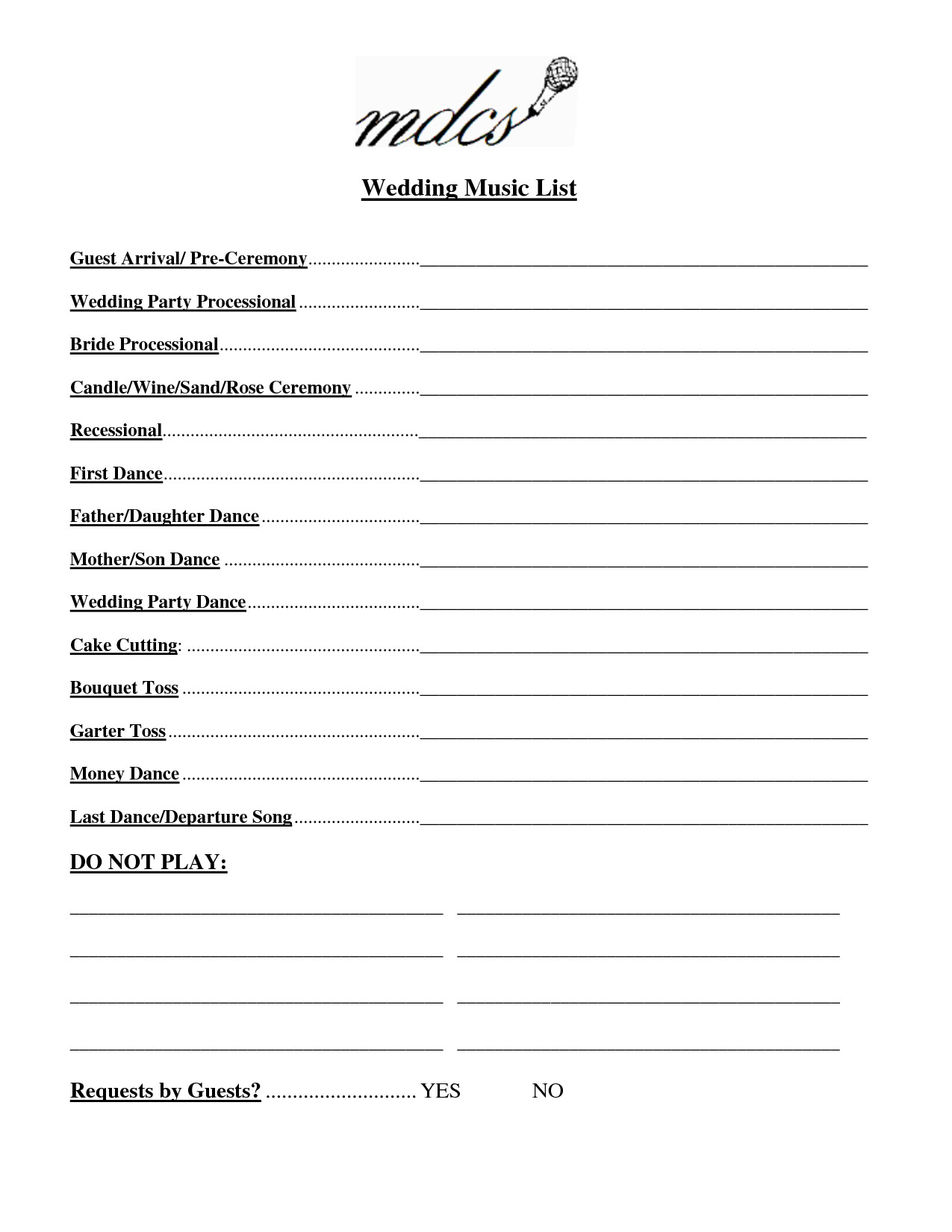 Wedding Party List Template Wedding Party List Template Free