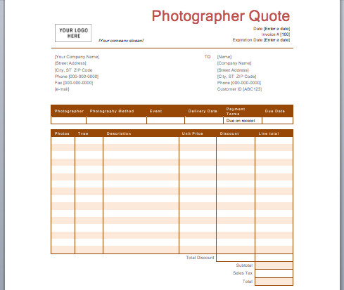 Wedding Photography Quote Template Graphy Quotation Template Quote Template
