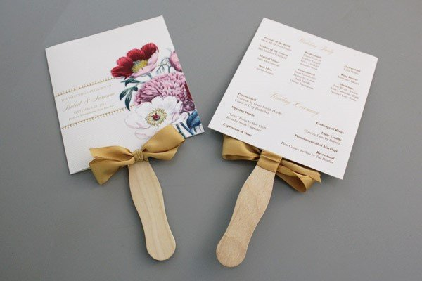 Wedding Program Fan Template A Round Up Of Free Wedding Fan Programs B Lovely events