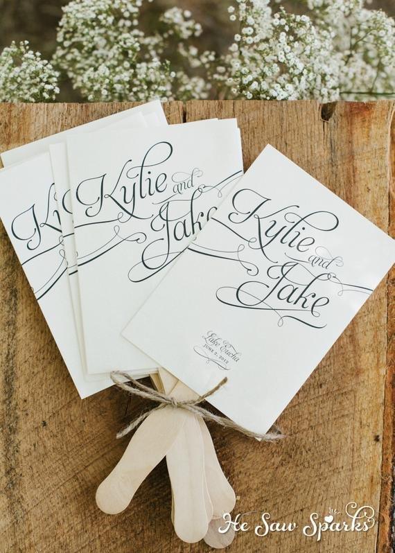 Wedding Program Fan Template Items Similar to Printable Paddle Fan Program Diy On Etsy
