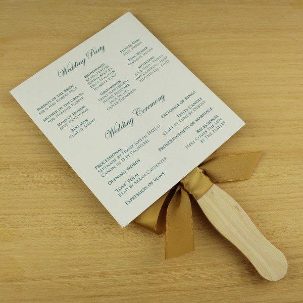 Wedding Program Fan Template Paddle Fan Wedding Program Template – Vintage Floral