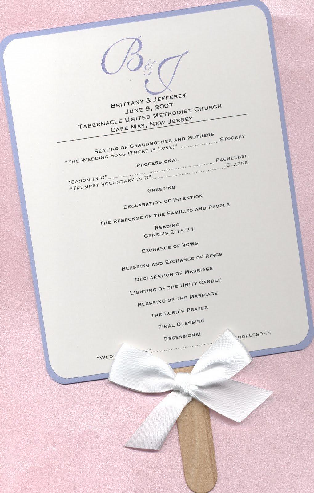 Wedding Program Fan Templates Design Aholic Wedding Program Fans
