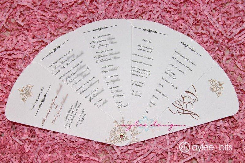 Wedding Program Fan Templates Diy Fan Programs
