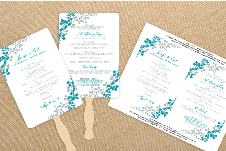 Wedding Program Fan Templates Wedding Fan Program Template Download by Diyweddingtemplates