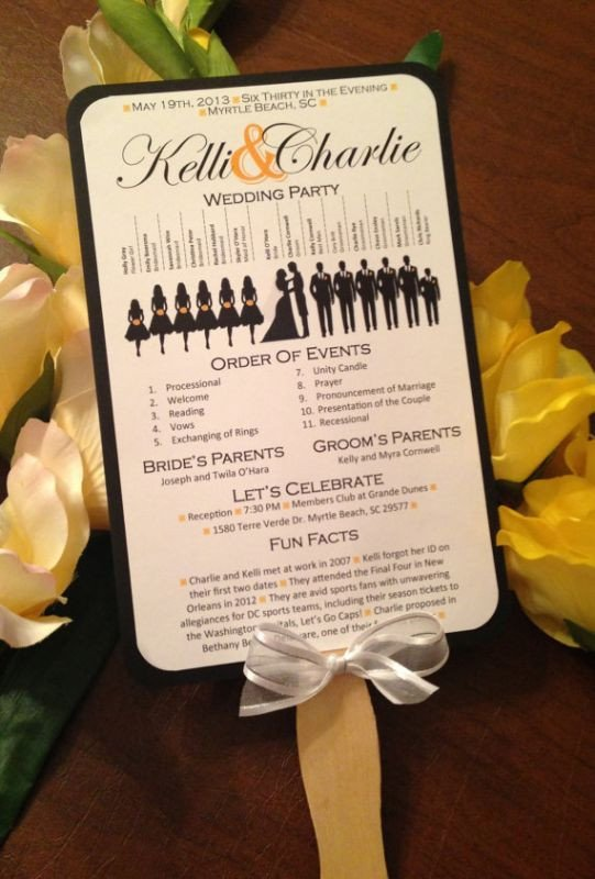 Wedding Program Fans Template A Round Up Of Free Wedding Fan Programs B Lovely events