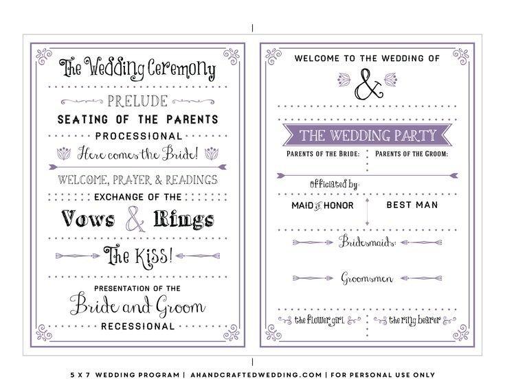 Wedding Program Template Google Docs Best 25 Wedding Program Templates Ideas On Pinterest