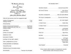 Wedding Program Template Google Docs Free Wedding Program Templates