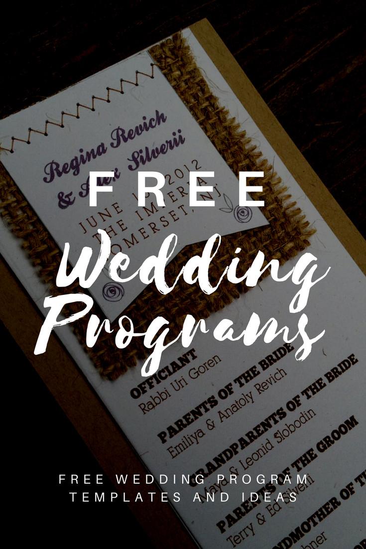 Wedding Program Template Google Docs Free Wedding Program Templates Wedding