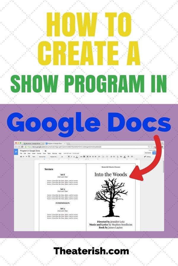 Wedding Program Template Google Docs How to Create A Show Program In Google Docs — theaterish