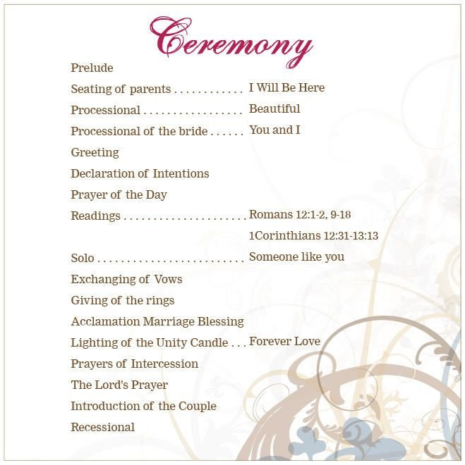 Wedding Program Template Google Docs Lutheran Wedding Ceremony Outline Google Search