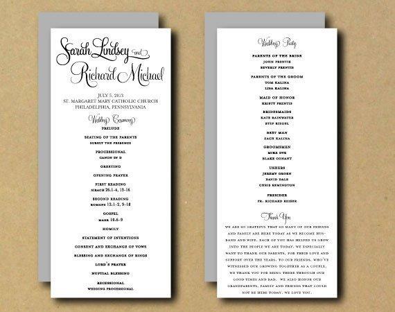 Wedding Program Template Google Docs Sale Printable Wedding Program Template Whimsical