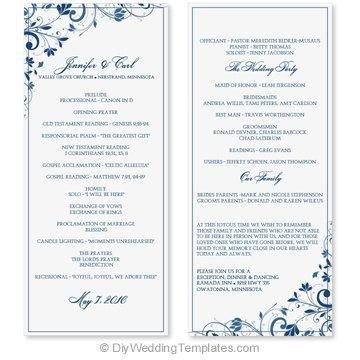 Wedding Program Template Microsoft Word Wedding Program Template Word