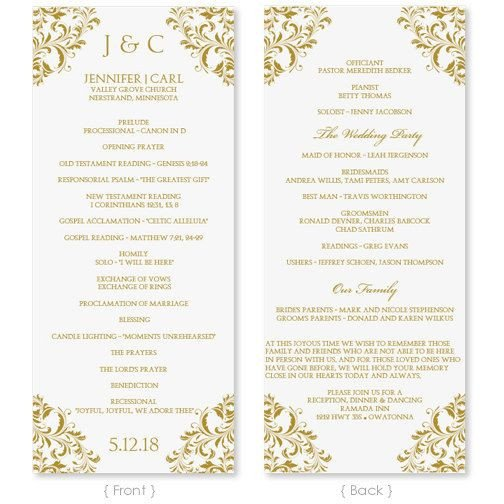 Wedding Program Templates Word Best 25 Wedding Program Templates Ideas On Pinterest