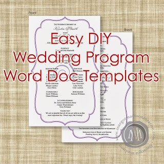 Wedding Program Templates Word Margotmadison Diy Wedding Program Word Doc Templates now