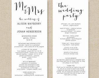 Wedding Program Templates Word order Of Service