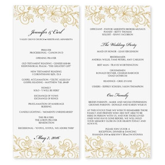 Wedding Program Templates Word Wedding Program Template Download Instantly by Karmakweddings
