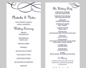 Wedding Program Templates Word Wedding Program Template Word