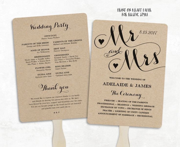 Wedding Programs Fans Templates Best 25 Wedding Program Templates Ideas On Pinterest