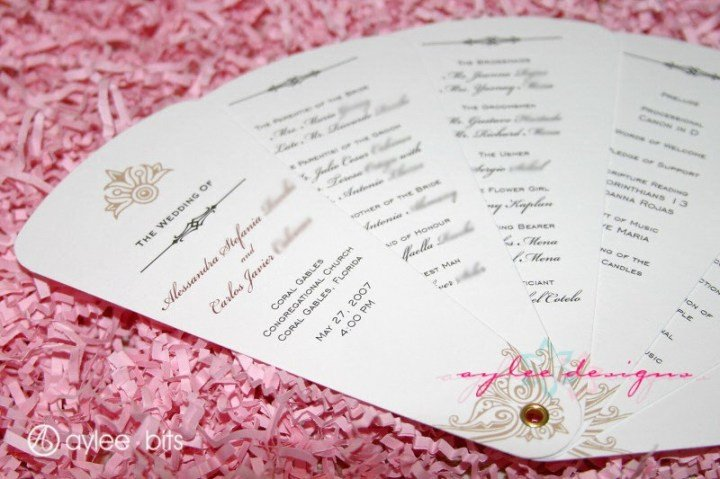 Wedding Programs Fans Templates Diy Fan Programs