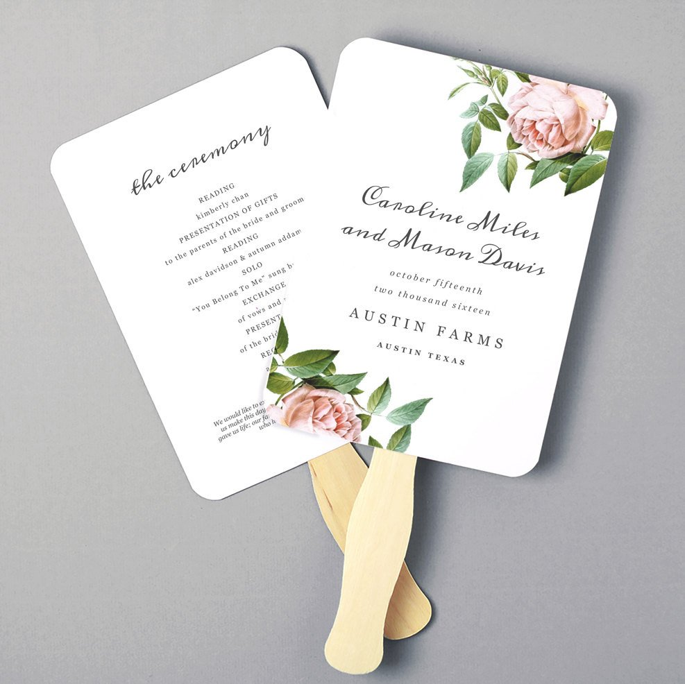 Wedding Programs Fans Templates Printable Fan Program Fan Program Template Wedding Fan