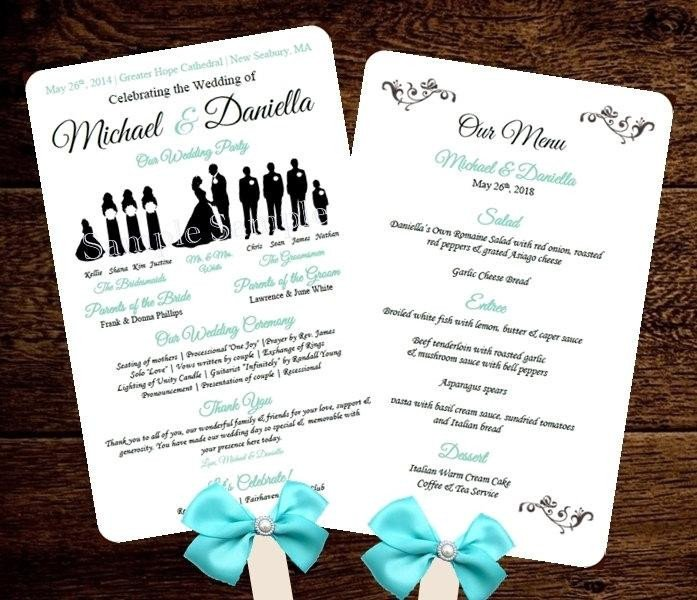 Wedding Programs Fans Templates Silhouette Wedding Program Template Fan Menu Diy Choose