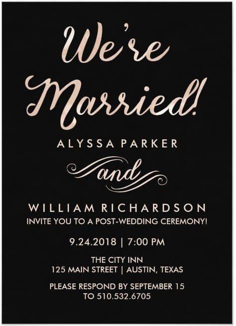 Wedding Reception Invite Templates 21 Beautiful at Home Wedding Reception Invitations