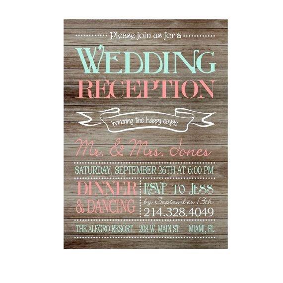 Wedding Reception Invite Templates 25 Best Ideas About Reception Invitations On Pinterest