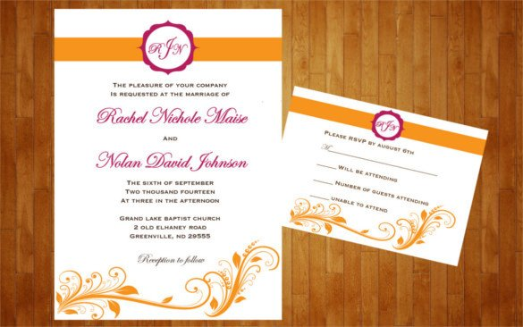Wedding Reception Invite Templates 28 Wedding Reception Invitation Templates Free Sample